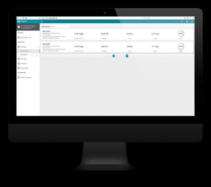 CIO Cockpit Essentials – Backup – Data Domain Dashboard