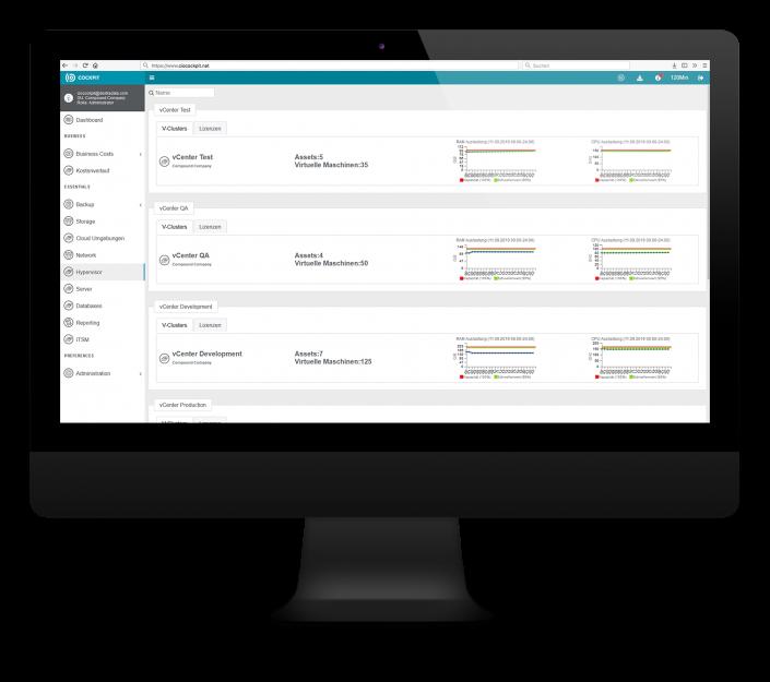 CIO Cockpit Essentials – Überblick zu Ihren Hypervisor Systemen