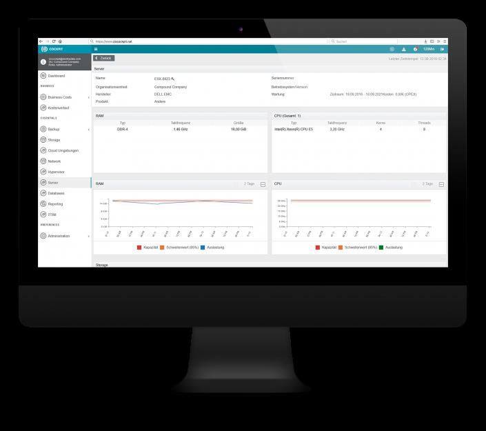 CIO Cockpit Essentials – Details zu Ihren verwendeten Servern: Konfiguration und Auslastungsdaten