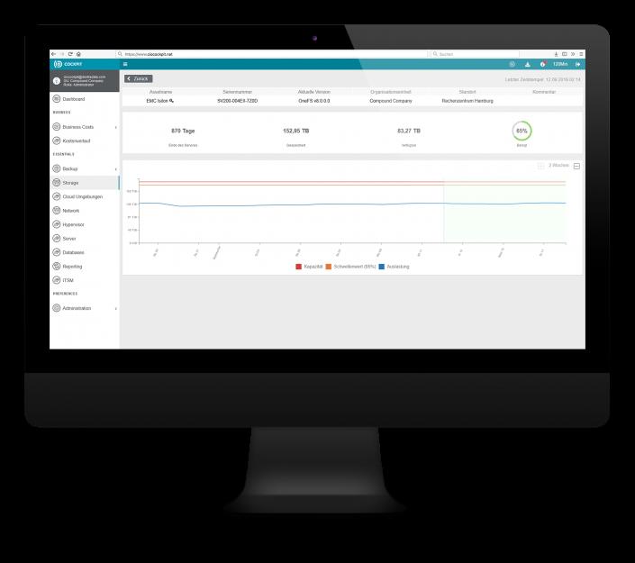 CIO Cockpit Essentials – Aktuelle Aulastung, Laufzeiten und weitere Details zu Ihren Storage-Systemen